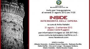 INSIDE, interiorità dell'opera, interessante collettiva a Belvedere Marittimo dal 31 agosto