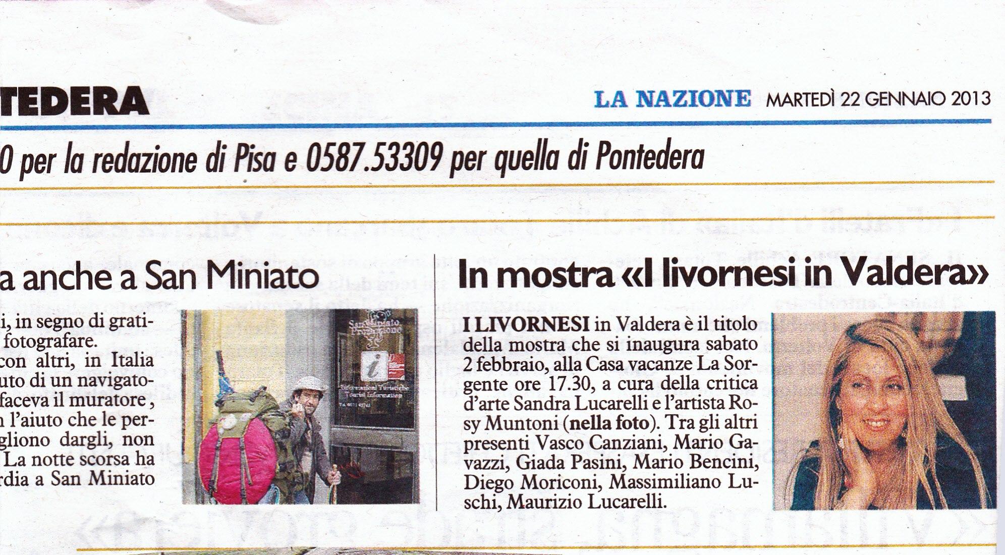I LIVORNESI IN VALDERA, complesso turistico La Sorgente di Capannoli (02/02 – 02/03)