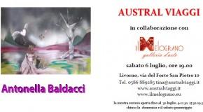 Antonella Baldacci espone presso Australviaggi, in collaborazione con Il Melograno. Livorno (06/07 – 30/07)