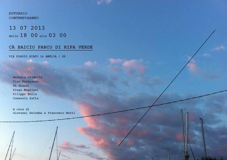 ESTUARIO CONTEMPORANEO  Concept-event a cura di Giovanni Deledda e Francesco Mutti. Ameglia 13 luglio