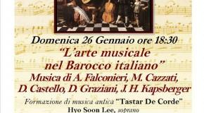 Musica ai Santi Apostoli – L'arte musicale nel Barocco italiano -Roma – 26  gennaio