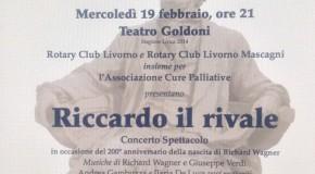 TEATRO GOLDONI E ROTARY – CONCERTO A FAVORE DELL' ASSOCIAZIONE CURE PALLIATIVE – LIVORNO – 19/02
