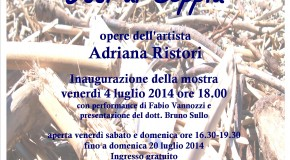ADRIANA RISTORI – OSSI DI SEPPIA – Ecomuseo dell'Alabastro  Castellina Marittima – 04/07 – 20/07