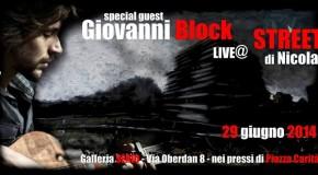 Giovanni Block in live acustico per la personale di Nicola Piscopo – Galleria Serio – Napoli – 29/06