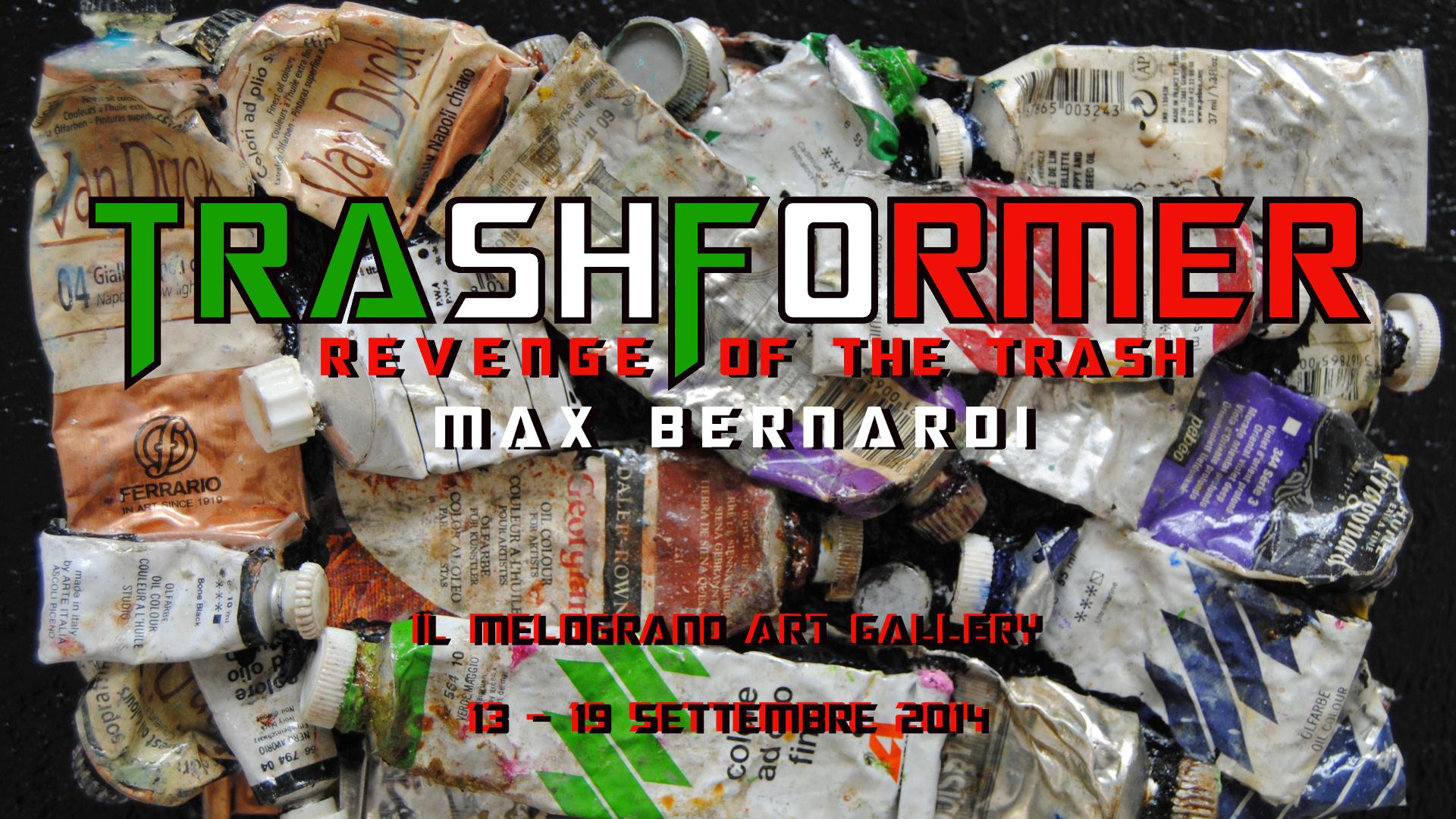 Massimo Bernardi Trashformer Il Melograno galleria arte