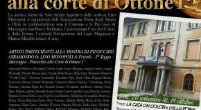 """Prima tappa di """"Pinocchio Giramondo"""" – IL PONTE DEGLI ARTISTI – Maccagno (VA) – 20/09 – 19/10"""