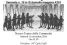 Nuovo Teatro delle Commedie  Ensemble di Fiati dell'Istituto Mascagni 11/11
