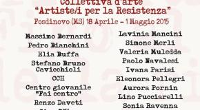 Artisti per la  Resistenza –  FOSDINOVO (MS) – 18/04 – 01/05