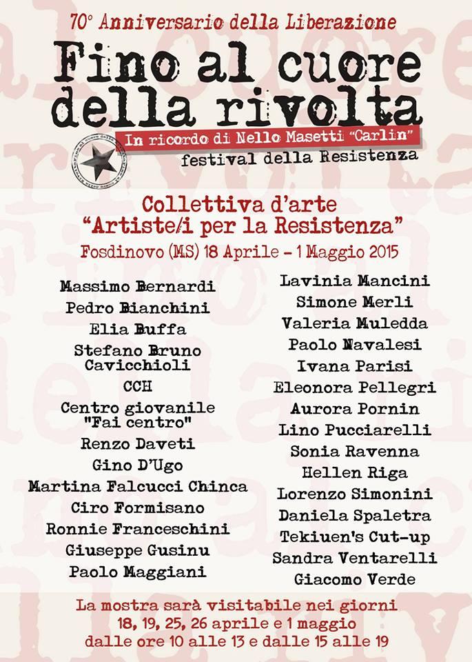 25 aprile Fosdinovo Artisti per la ResistenZa