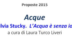 Silvia Stucky – L'Acqua è senza io – Terza esposizione della rassegna  Acque – Arte Fuori centro – Roma – 22/04 – 08/05