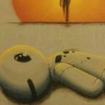 l'abbandono---dettaglio---spray-e-acrilico-su-tela-naturale---50x40