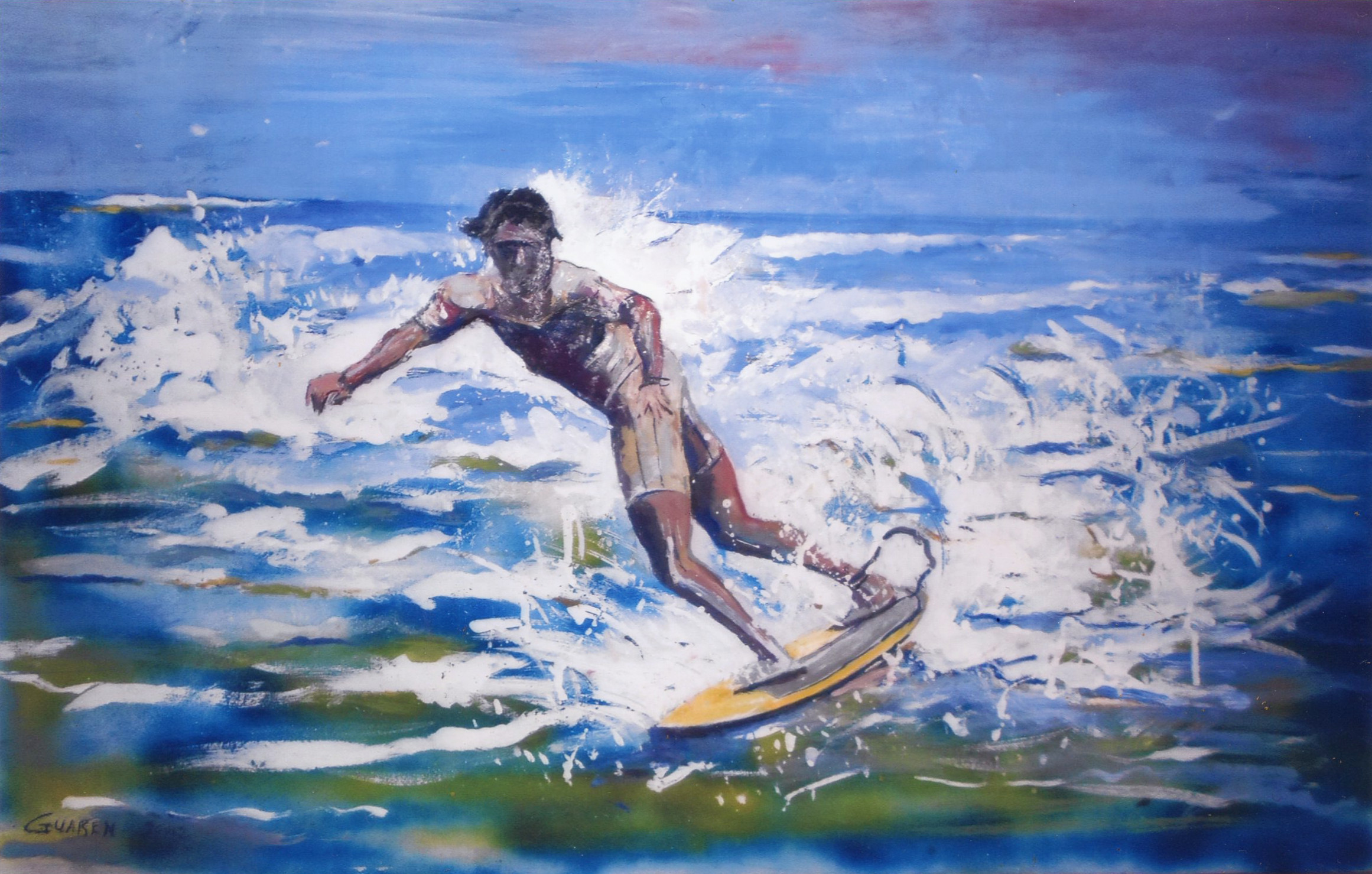 Renzo Guarducci Sup surfing