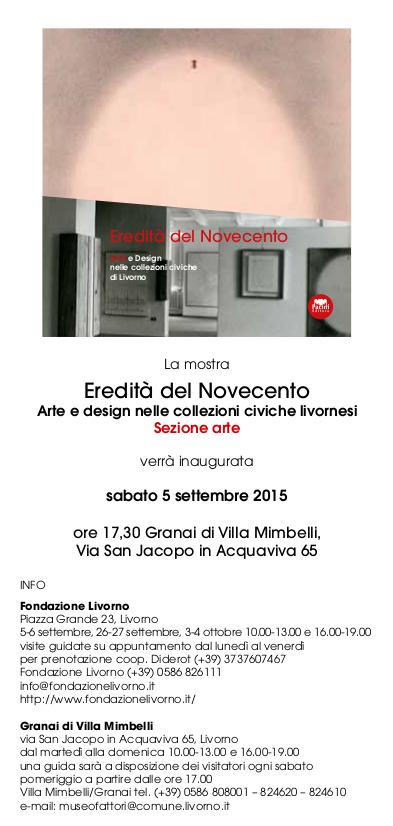 Fondazione Livorno arte granai villa Mimbelli