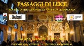 """Passaggi di luce"" – Rassegna internazionale di arte contemporanea – Venezia – 03/10 – 31/10"