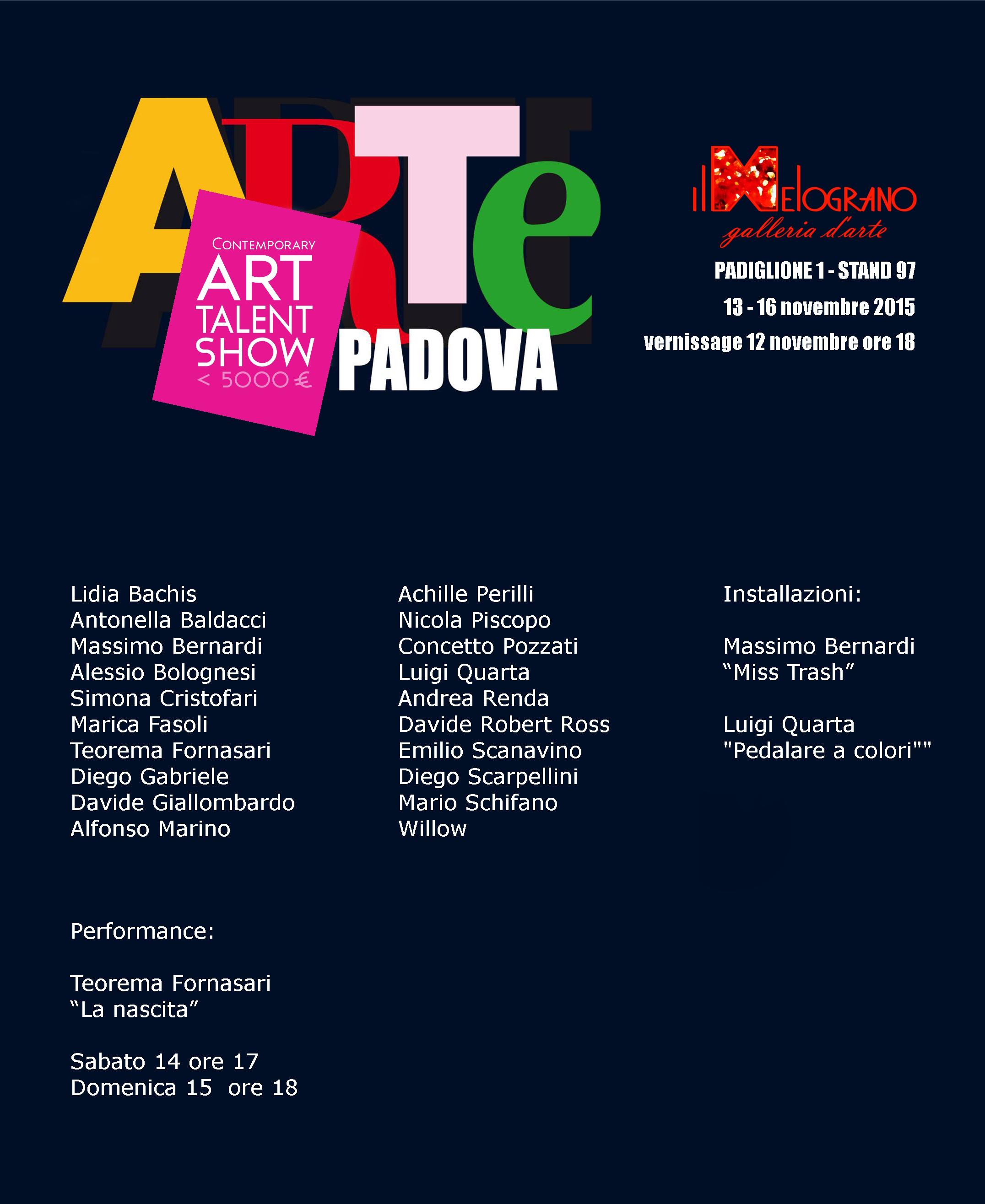 Il Melograno ad ArtePadova 2015