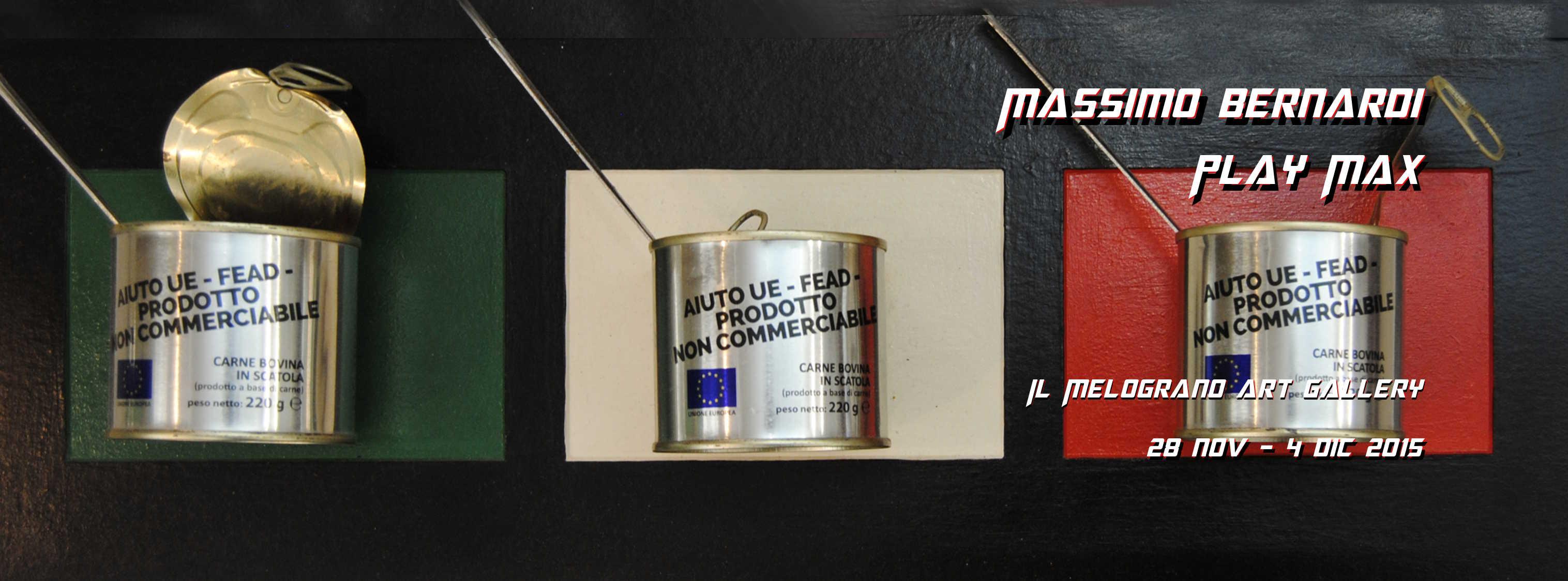Massimo Bernardi Play Max Il Melograno Art Gallery