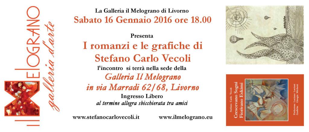 Stefano Carlo Vecoli presentazione romanzi e grafiche al Melograno