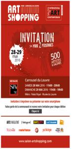 Paris Carrousel du Louvre Art Shopping invitation  28 e 29 mai 2016