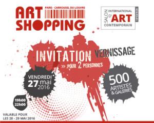 Paris Carrousel du Louvre Art Shopping invitation  vernissage 2016