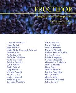 Rassegna Fructidor Il Melograno Art Gallery Livorno